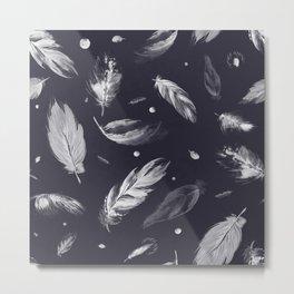 Sumi Feather Pattern Metal Print