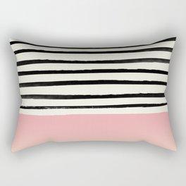 Blush x Stripes Rectangular Pillow
