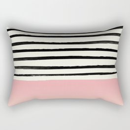 Blush x Stripes Rectangular Pillow
