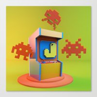 video game Canvas Prints featuring Video Game by eduardofajardo