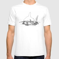 Pilot Fish White LARGE Mens Fitted Tee
