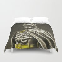 1989 Duvet Covers featuring BAT-MAN 1989 by Bungle