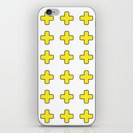 Yellow Crosses iPhone Skin