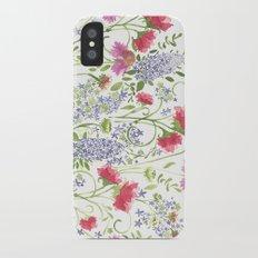 Flowering Meadow - Watercolor iPhone X Slim Case