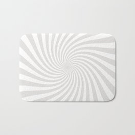 Swirl (Platinum/White) Bath Mat