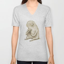 Sloth With Flower Unisex V-Neck
