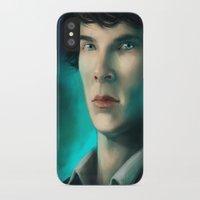 sherlock holmes iPhone & iPod Cases featuring Sherlock Holmes by Elzart