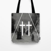 witch Tote Bags featuring Witch by A C U L T