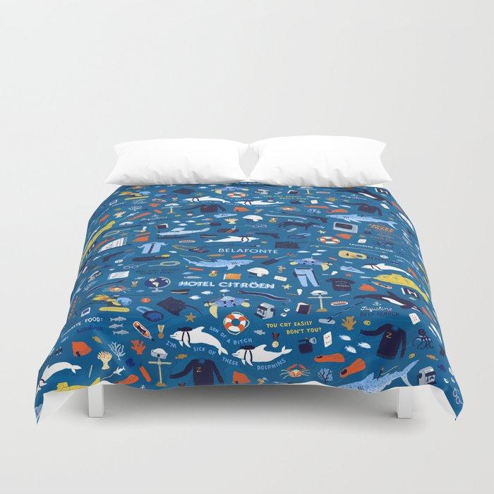Life Aquatic Plot Pattern Duvet Cover