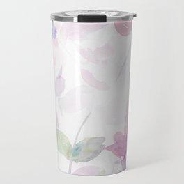 Blooming blush and purple watrclolor Travel Mug