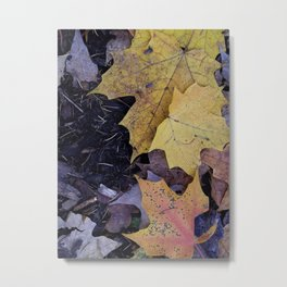 Leaves as Darkness Falls Metal Print