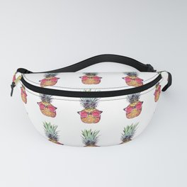 Trendy pineapple with pink sunglasses Fanny Pack