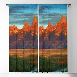 Grand Tetons - Jackson Hole, Wyoming in Autumn Blackout Curtain