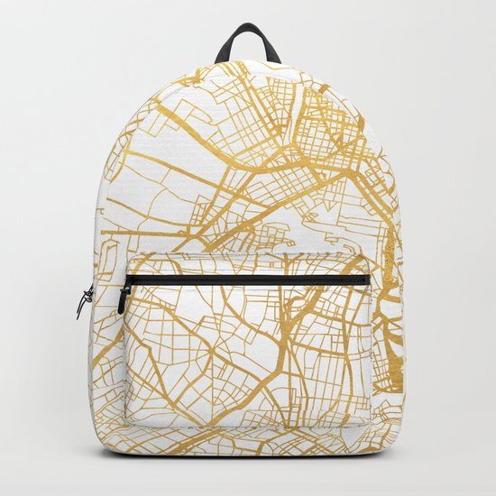 ATHENS GREECE CITY STREET MAP ART Backpack