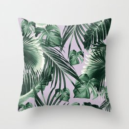 Tropical Jungle Leaves Dream #8 #tropical #decor #art #society6 Throw Pillow