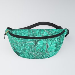Liquid Trees (emerald-mint) Fanny Pack