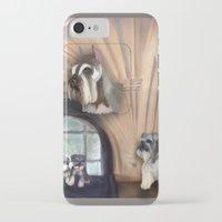 schnauzer iPhone & iPod Cases featuring Schnauzer by Michelle Behar