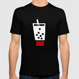 Boba milk tea, 50% sugar and less ice please T-shirt