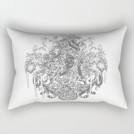 Beautiful Girl with ROSE Rectangular Pillow