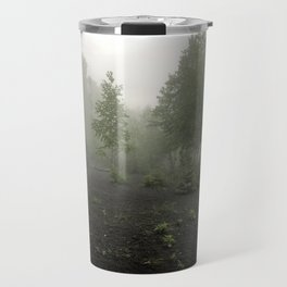 Fog Over Black Sands Travel Mug