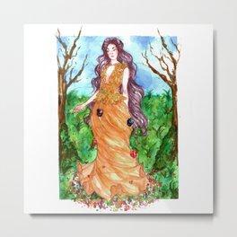 Spring is comming - Persephone Metal Print