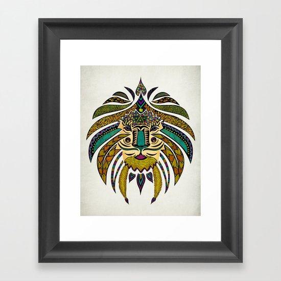 Emperor Tribal Lion Framed Art Print