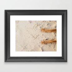 beach paws Framed Art Print