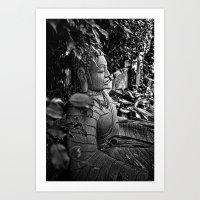 buddah Art Prints featuring Mystic Buddah by Tyrantzor