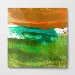 Encaustic Abstract No.27M by Kathy Morton Stanion Metal Print