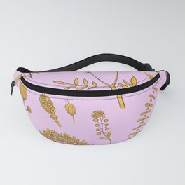 Herbal flowers and leaves design for fine country house decoration Fanny Pack