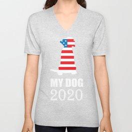 My Dog 2020 - Vote for My Dog Election Unisex V-Neck