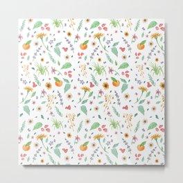 Essential Flowers Metal Print