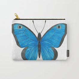 Morpho Butterfly Illustration Carry-All Pouch
