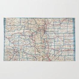 Vintage Map of Colorado (1921) Rug