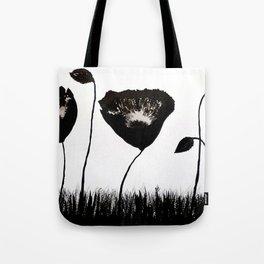 Black Poppies / Ink Painting Tote Bag