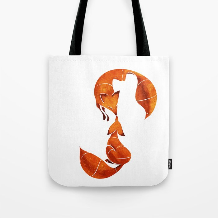 Kissing foxes Tote Bag