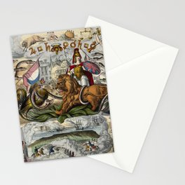 Raphael's Prophetic Almanack: a mob by the Palace of Westminster (1844) Stationery Cards