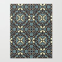 yellow pattern Canvas Prints featuring Pattern Yellow by Annabelle A.