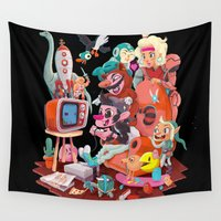 metroid Wall Tapestries featuring The 80s Kid by Manuel Kilger