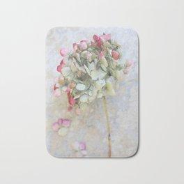 Pastel Pink Hydrangea Bath Mat