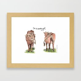 I'm a country girl Framed Art Print