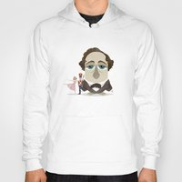 wes anderson Hoodies featuring Greater-Spotted Children's Authors - Hans Christian Anderson by Scott Tyrrell