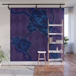 Thorny Rose Vines with Chains Wall Mural