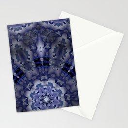 Kaleid low blue Stationery Cards