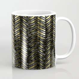Alien Columns - Black and Gold Coffee Mug