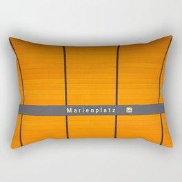 Munich U-Bahn Memories - Marienplatz Rectangular Pillow
