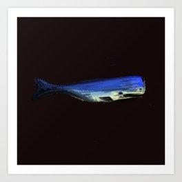 Whale Blue Art Print