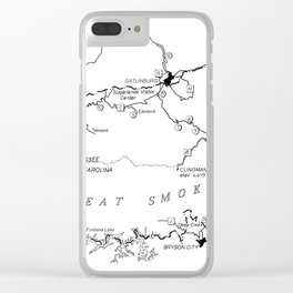Map of The Great Smoky Mountains National Park (1996) Clear iPhone Case