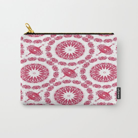 Ruby Mandala Tile Carry-All Pouch