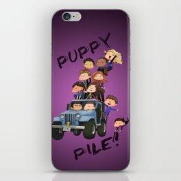 Puppy Pile iPhone Skin